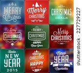 christmas typographic... | Shutterstock .eps vector #227729227