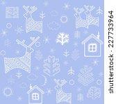 blue winter wallpaper with... | Shutterstock . vector #227733964