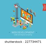flat web development 3d... | Shutterstock .eps vector #227734471