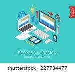 flat responsive webdesign 3d...   Shutterstock .eps vector #227734477