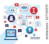 social network and... | Shutterstock .eps vector #227734579
