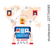 businessman hands holding the... | Shutterstock .eps vector #227734585