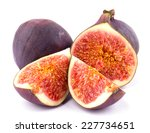 ripe sweet figs sliced isolated ... | Shutterstock . vector #227734651