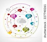 social media | Shutterstock .eps vector #227740261