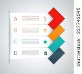 modern colorful minimal arrow... | Shutterstock .eps vector #227743045