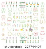 set of wedding graphic set ... | Shutterstock .eps vector #227744407