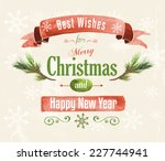 watercolor hand drawn christmas ... | Shutterstock .eps vector #227744941
