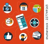 touchscreen smartphone with... | Shutterstock .eps vector #227749165