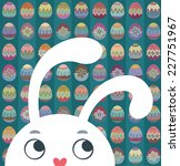 easter bunny on a background of ... | Shutterstock .eps vector #227751967