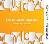 Pattern background. Food and drinks
