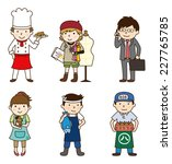 various occupations   set 3 | Shutterstock .eps vector #227765785