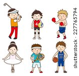 various occupations   set 5 | Shutterstock .eps vector #227765794