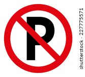 no parking sign | Shutterstock .eps vector #227775571