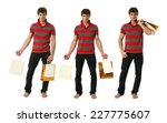 three young sexy men with copy... | Shutterstock . vector #227775607