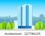 city skylines business office...   Shutterstock .eps vector #227786125