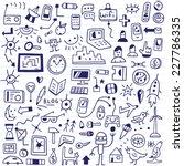 web  devices   doodles set | Shutterstock .eps vector #227786335