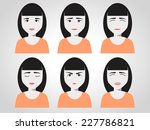 set of female faces with... | Shutterstock .eps vector #227786821