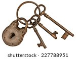 Rusted Lock And Keys Attached...