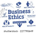 business ethics   chart with... | Shutterstock .eps vector #227790649