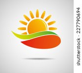 sun icon vector creative design  | Shutterstock .eps vector #227790694