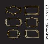 golden frames | Shutterstock .eps vector #227793415