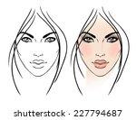 face chart makeup artist blank. ... | Shutterstock .eps vector #227794687