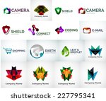 abstract company logo vector... | Shutterstock .eps vector #227795341