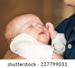 sweet baby boy on father's... | Shutterstock . vector #227799031