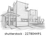sketch of architecture | Shutterstock .eps vector #227804491