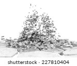 broken concrete floor isolated... | Shutterstock . vector #227810404
