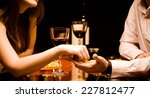 man and woman at the restaurant ... | Shutterstock . vector #227812477