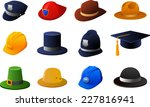 hats and helmets collection ... | Shutterstock .eps vector #227816941