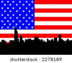 chicago skyline and american... | Shutterstock .eps vector #2278189