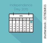 flat holiday calendar icon. 4th ...