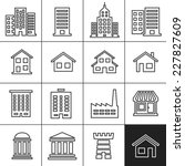 building icons set. vector... | Shutterstock .eps vector #227827609