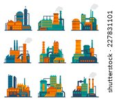 industrial city construction... | Shutterstock .eps vector #227831101