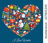 love winter concept with new... | Shutterstock .eps vector #227831245