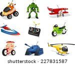 remote control toy collection ... | Shutterstock .eps vector #227831587