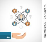 connected people concept with... | Shutterstock .eps vector #227832571