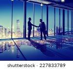 business people hand shake... | Shutterstock . vector #227833789