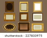 nine picture frame  in... | Shutterstock .eps vector #227833975