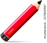 red pen hard graphite vector... | Shutterstock .eps vector #227833987
