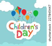children's day background | Shutterstock .eps vector #227845447
