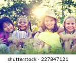 Group Of Little Girls Smiling...