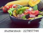 fresh vegetable salad healthy... | Shutterstock . vector #227857744