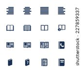 set of icons for book  list and ...   Shutterstock .eps vector #227859337