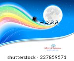 santa claus and reindeers... | Shutterstock .eps vector #227859571