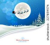 Santa Claus And Reindeers...
