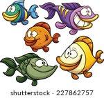 colorful cartoon fish. vector...