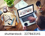 digital online internet... | Shutterstock . vector #227863141